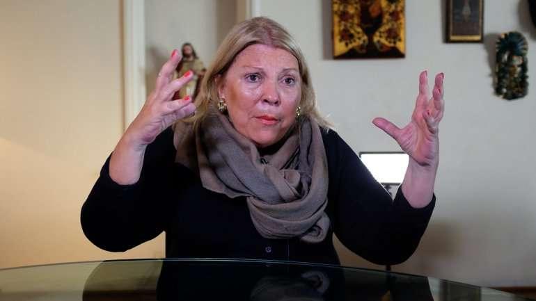 Lilta Carrió, enojada con todos. Foto: NA