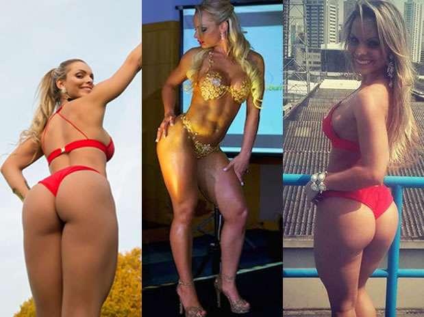 Indianara Carvalho, de 22 años, salió electa este lunes el mejor trasero de Brasil en el tradicional concurso que concita la atención masculina en todo el mundo. Foto: Reproducción