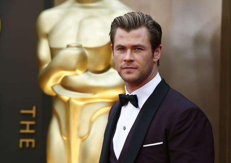 Actor Chris Hemsworth arrives at the 86th Academy Awards in Hollywood, California March 2, 2014. Foto: Lucas Jackson/Reuters
