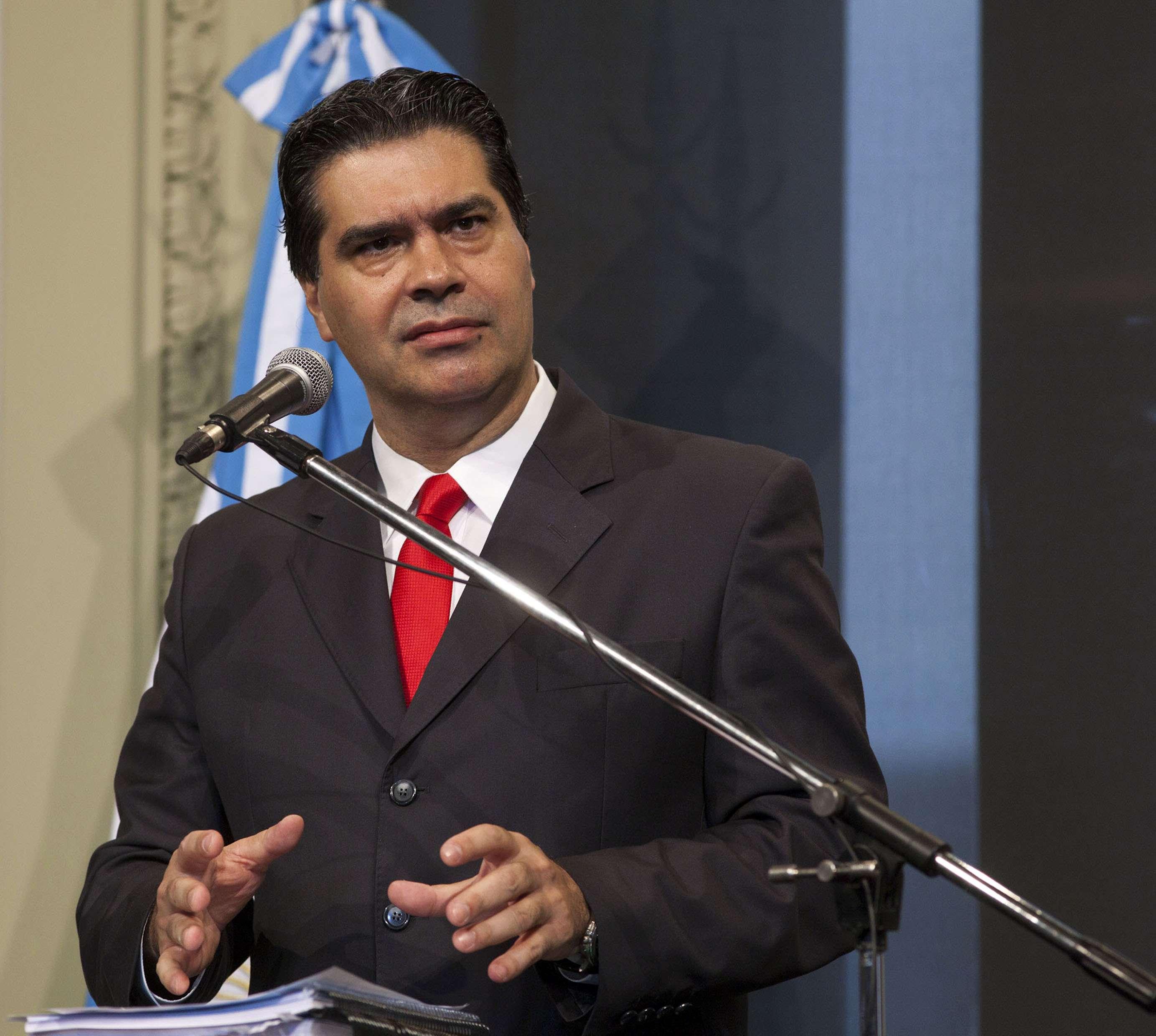 El Jefe de Gabinete, Jorge Capitanich. Foto: NA