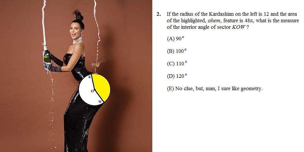 """Foto de Kardashian na revista Paper deu origem a uma série de problemas """"cômicos"""" de matemática Foto: Twitter/ @CatalystPrep/Reprodução"""