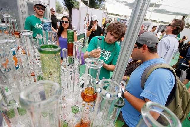 El senador Fulvio Rossi llegó hasta la inauguración de Expoweed 2014, en el Parque O´higgins, lugar donde más de 60 expositores ofrecen las más diversas variedades de semillas de marihuana y que se realizará durante el fin de semana. El costo de la entrada general es de $8.000, $4.000 adultos mayores. Foto: Agencia UNO