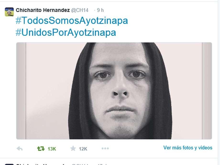 """""""Chicharito"""" Hernández a la distancia está al pendiente Foto: Twitter """"Chicharito"""" Hernández"""