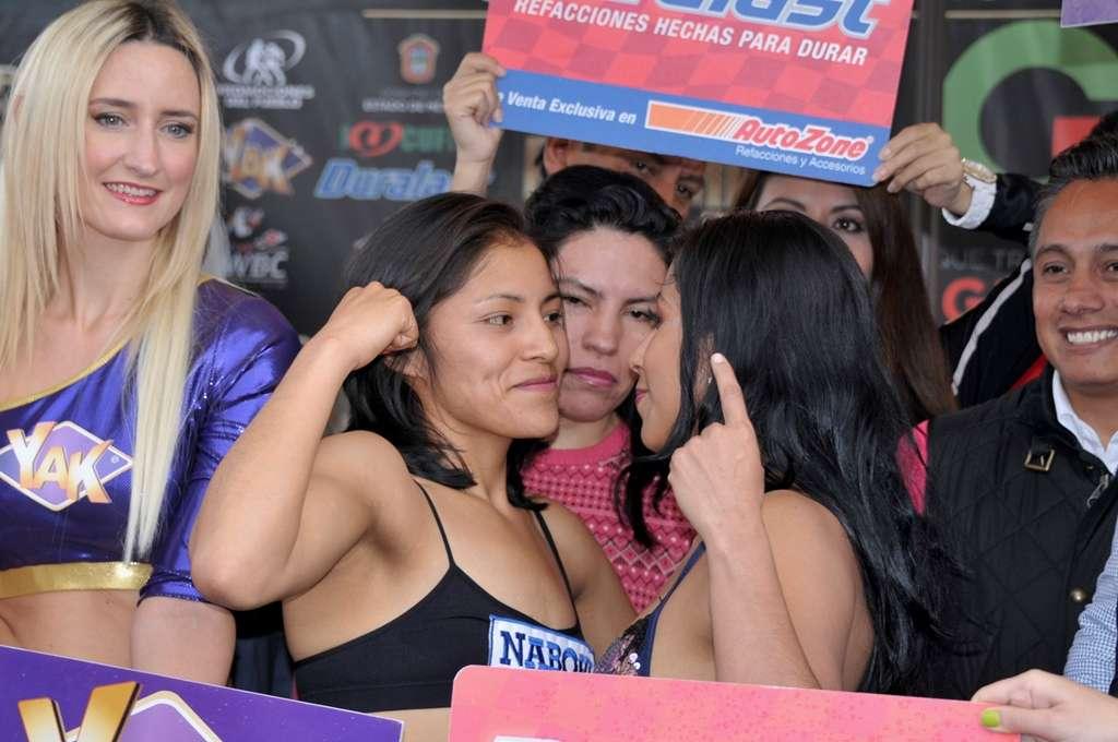 Ambas peleadoras se mostraron muy seguras de sí mismas. Foto: Alma Montiel/CMB