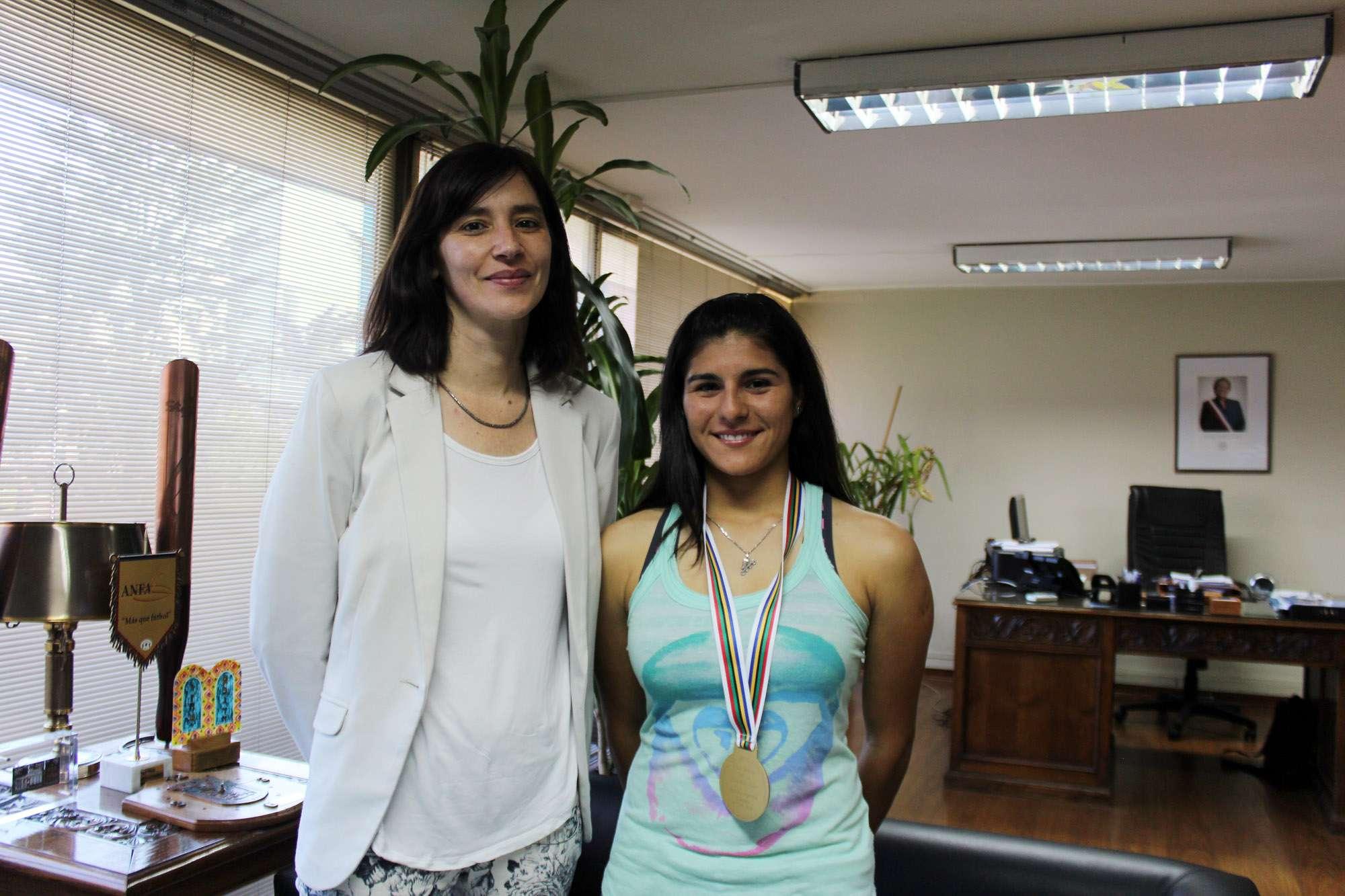 María José Moya ganó Medalla de Oro en Argentina. Foto: Prensa Mindep