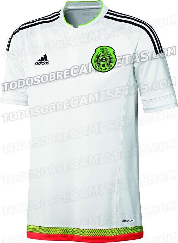 La que sería la nueva playera de México para la Copa América 2015. Foto: Todo Sobre Camisetas.com