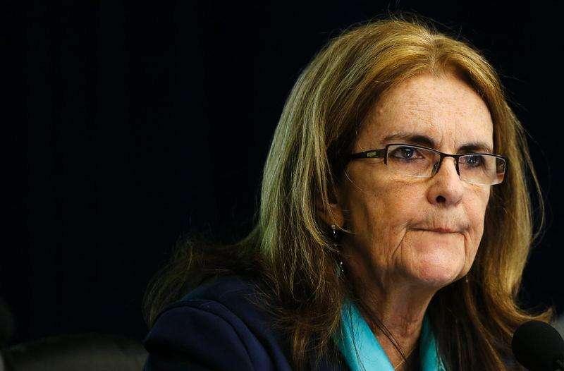 A presidente-executiva da Petrobras, Maria das Graças Foster, em coletiva de imprensa. 17/11/2014. Foto: Sergio Moraes/Reuters