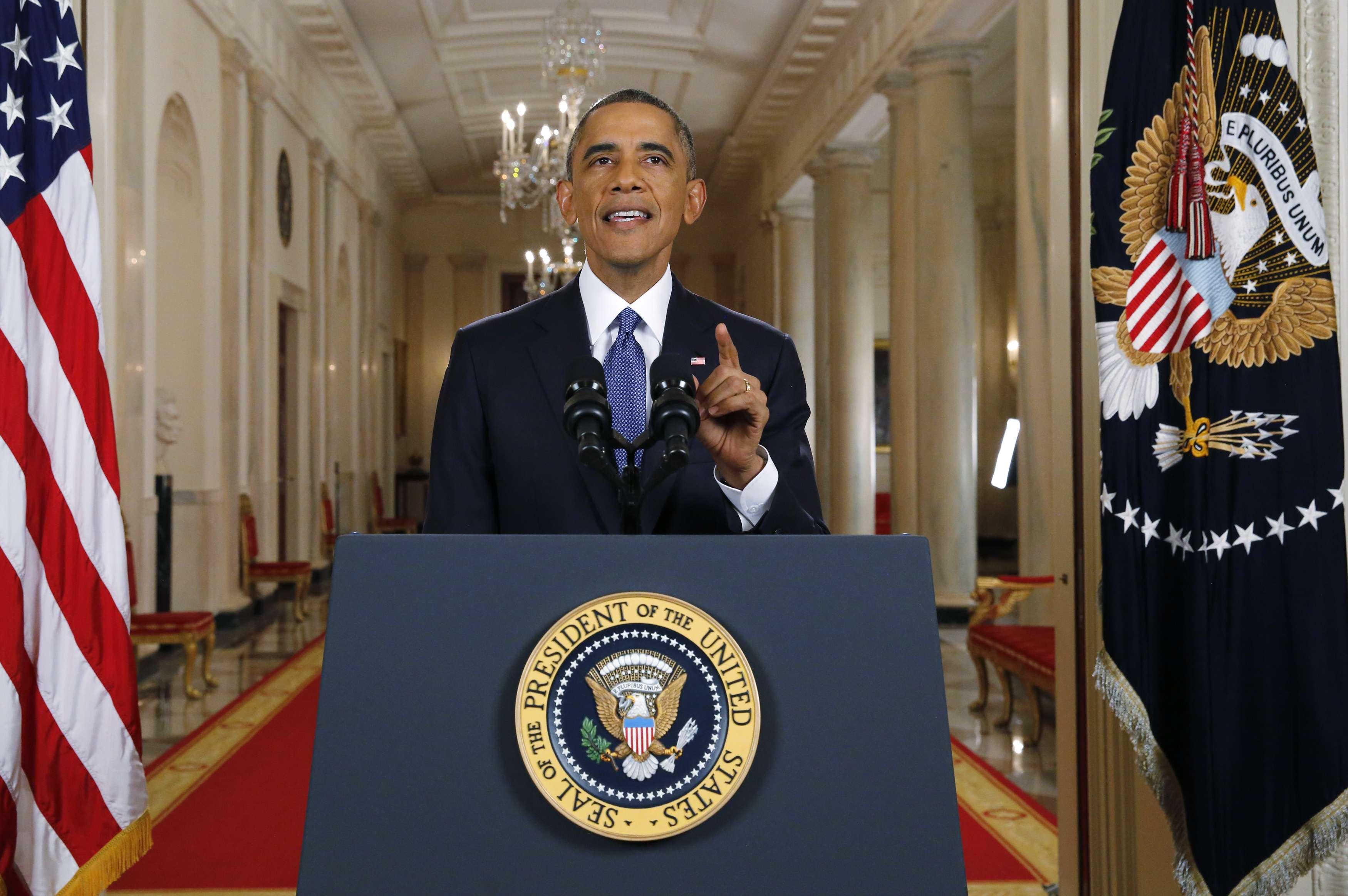 Obama anunció sus medidas en una alocución televisada. Foto: AP en español