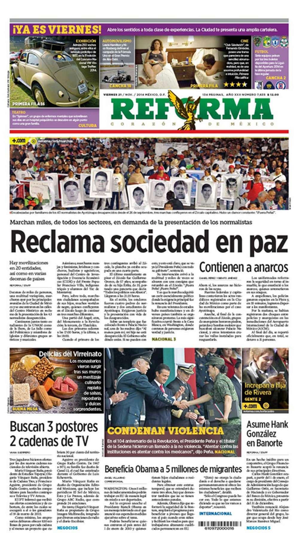 Marchas por Ayotzinapa Foto: Terra