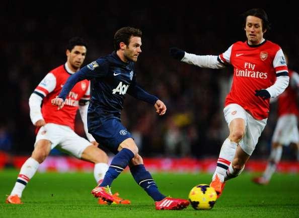 El United acumula cinco partidos sin perder ante el Arsenal. Foto: Getty Images