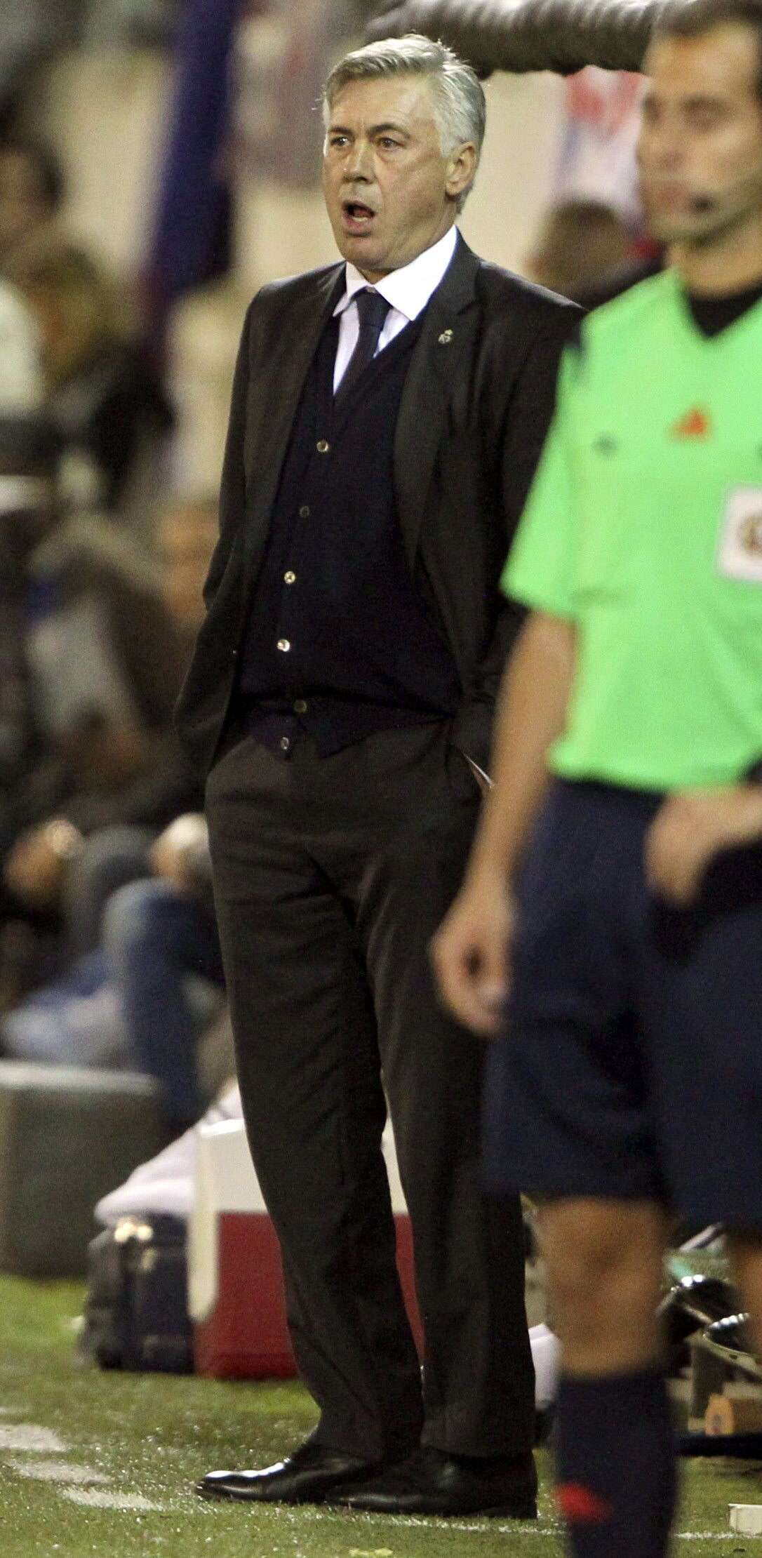 Carlo Ancelotti durante el encuentro Eibar - Real Madrid. Foto: EFE en español