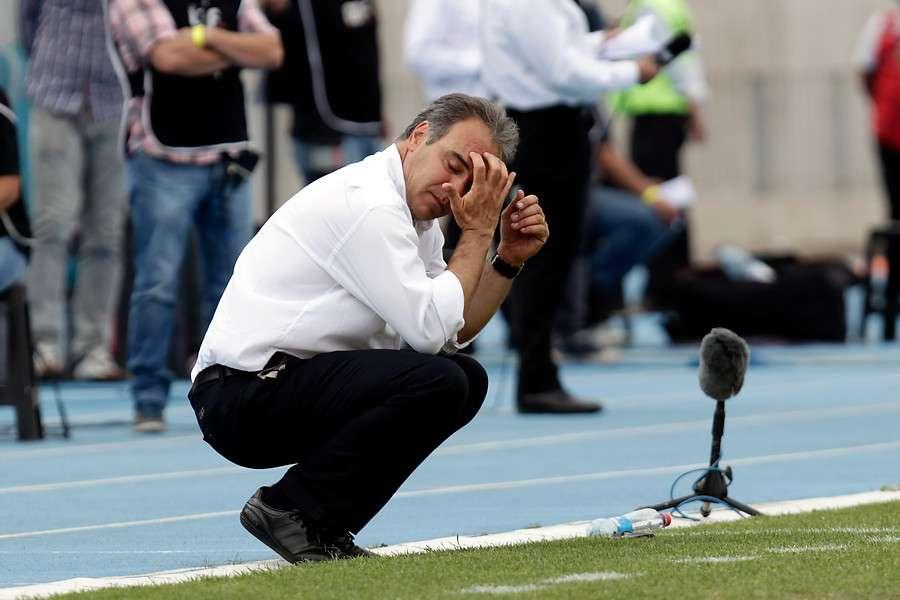 Lasarte reconoció el mal juego de los azules. Foto: Agencia UNO