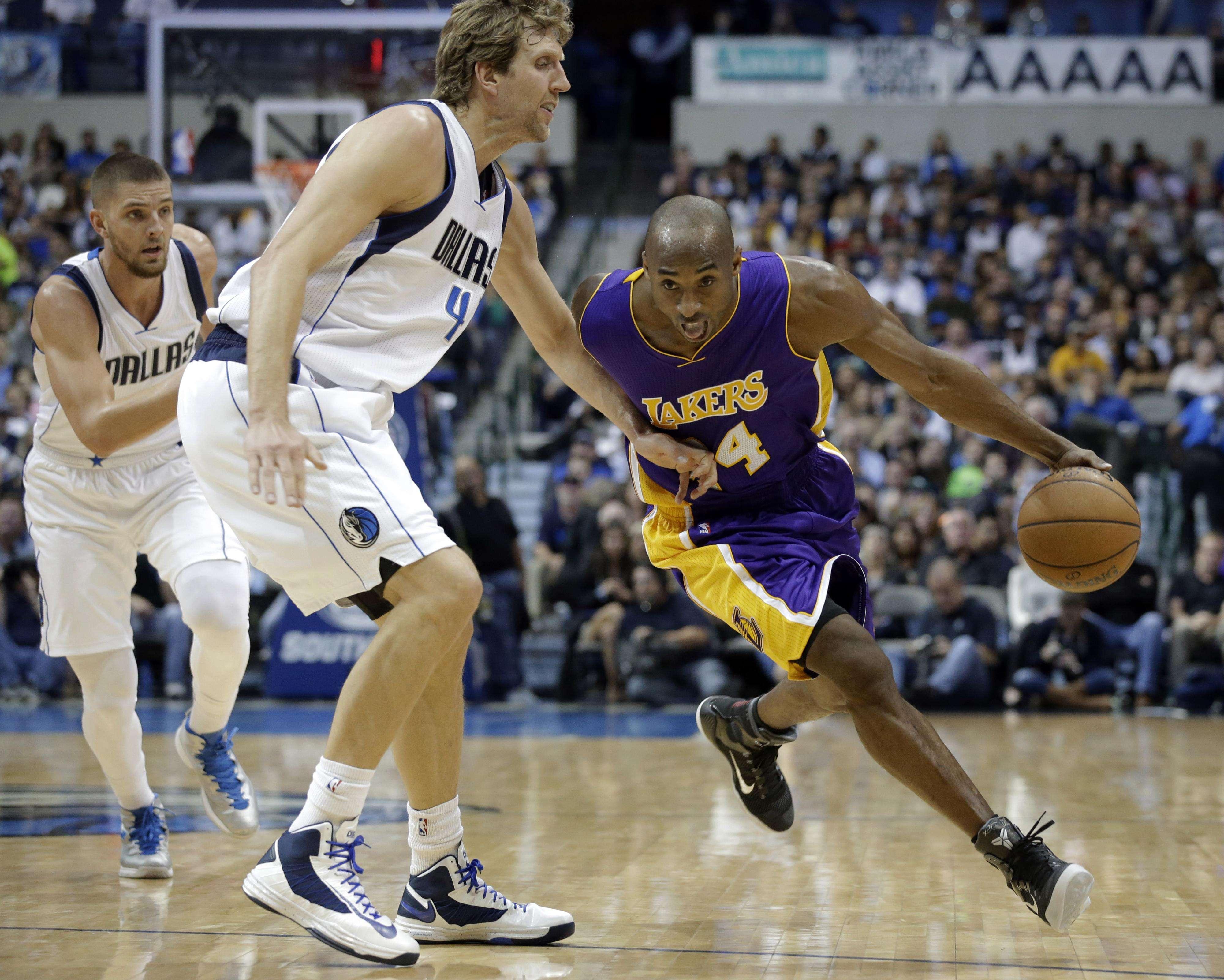 Nowitzki fue mejor que Bryant. Foto: AP