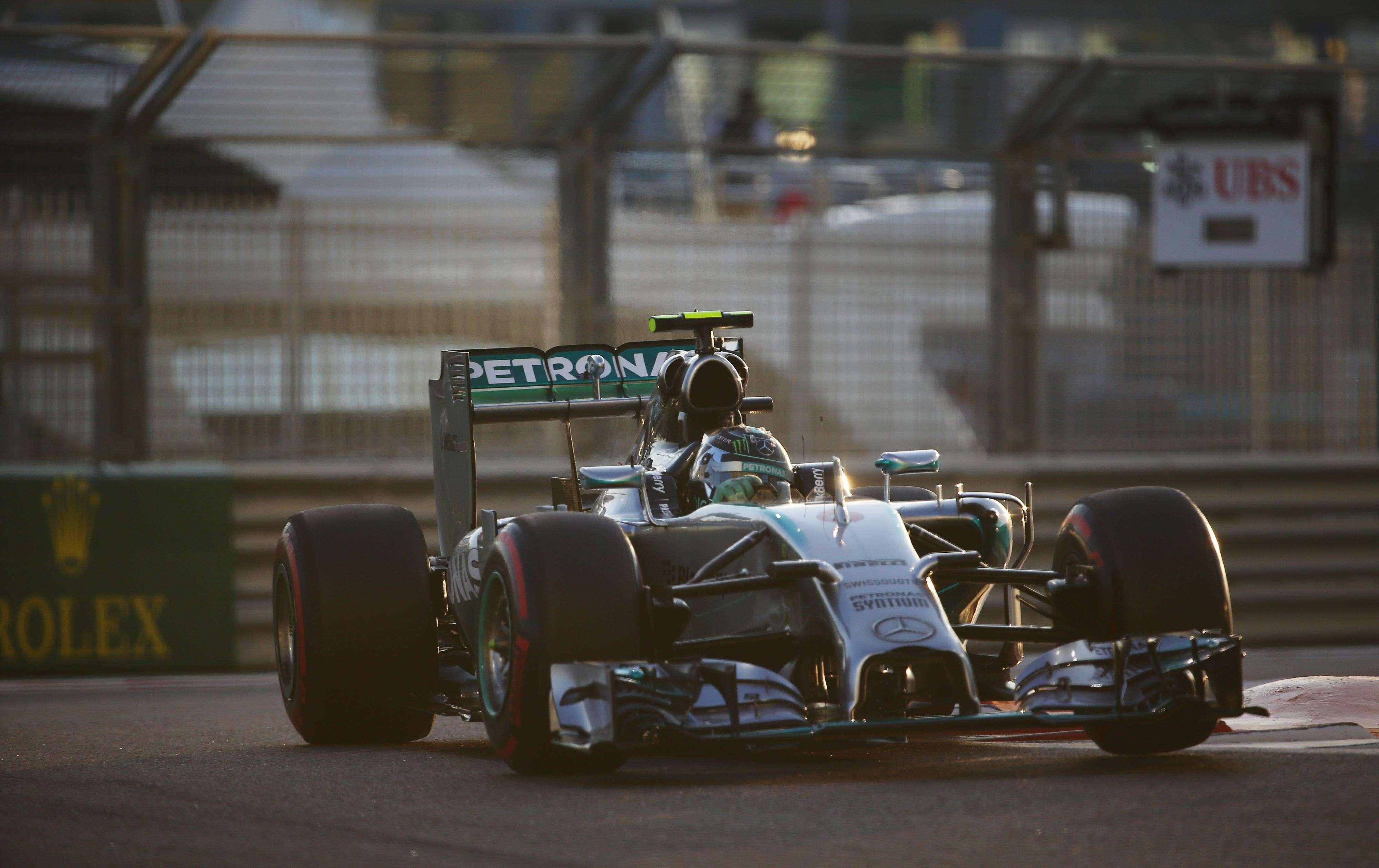 Rosberg conseguiu um tempo bastante superior ao de Hamilton Foto: Marwan Naamani/AFP