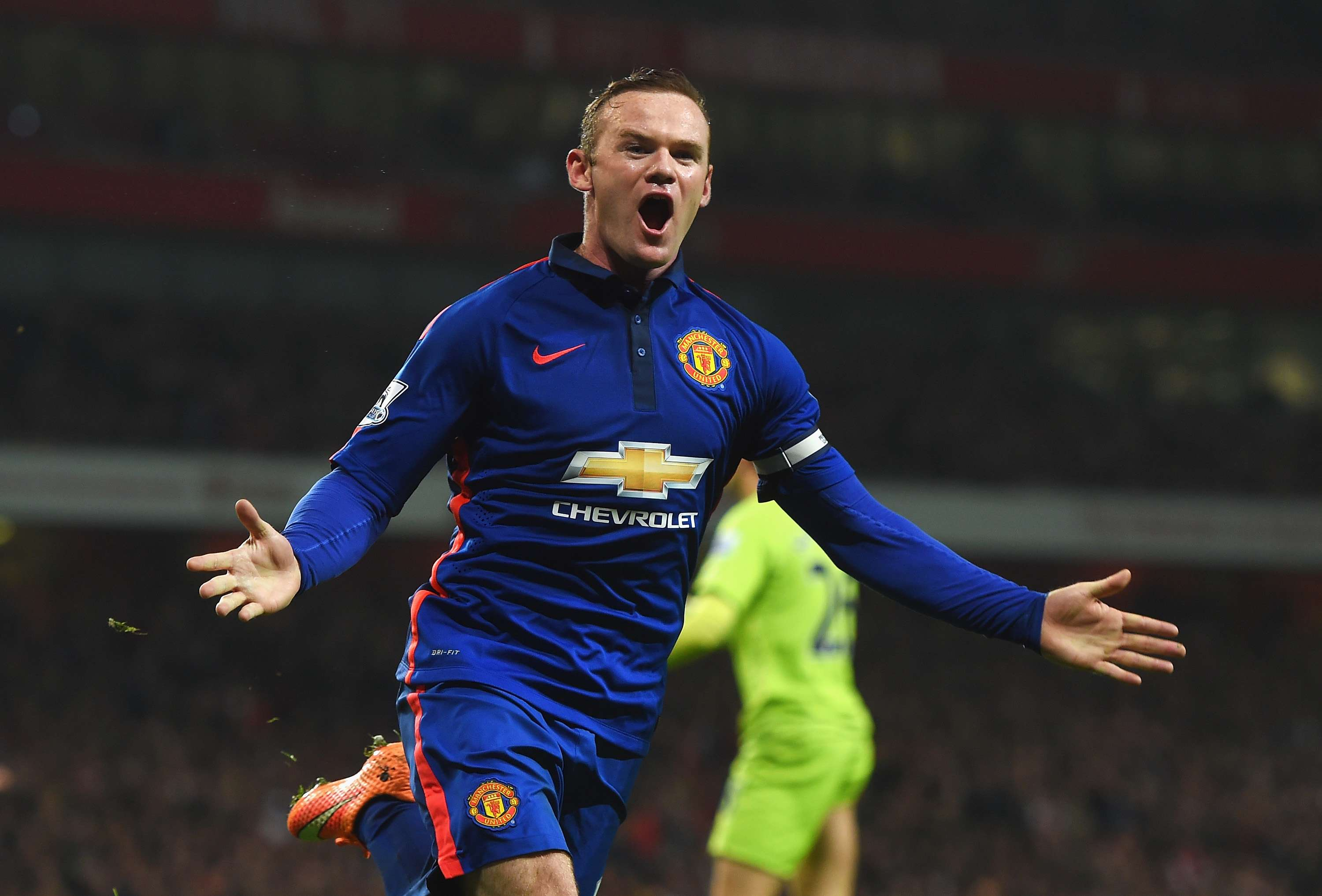 Rooney festejó el gol del triunfo del United. Foto: Getty Images