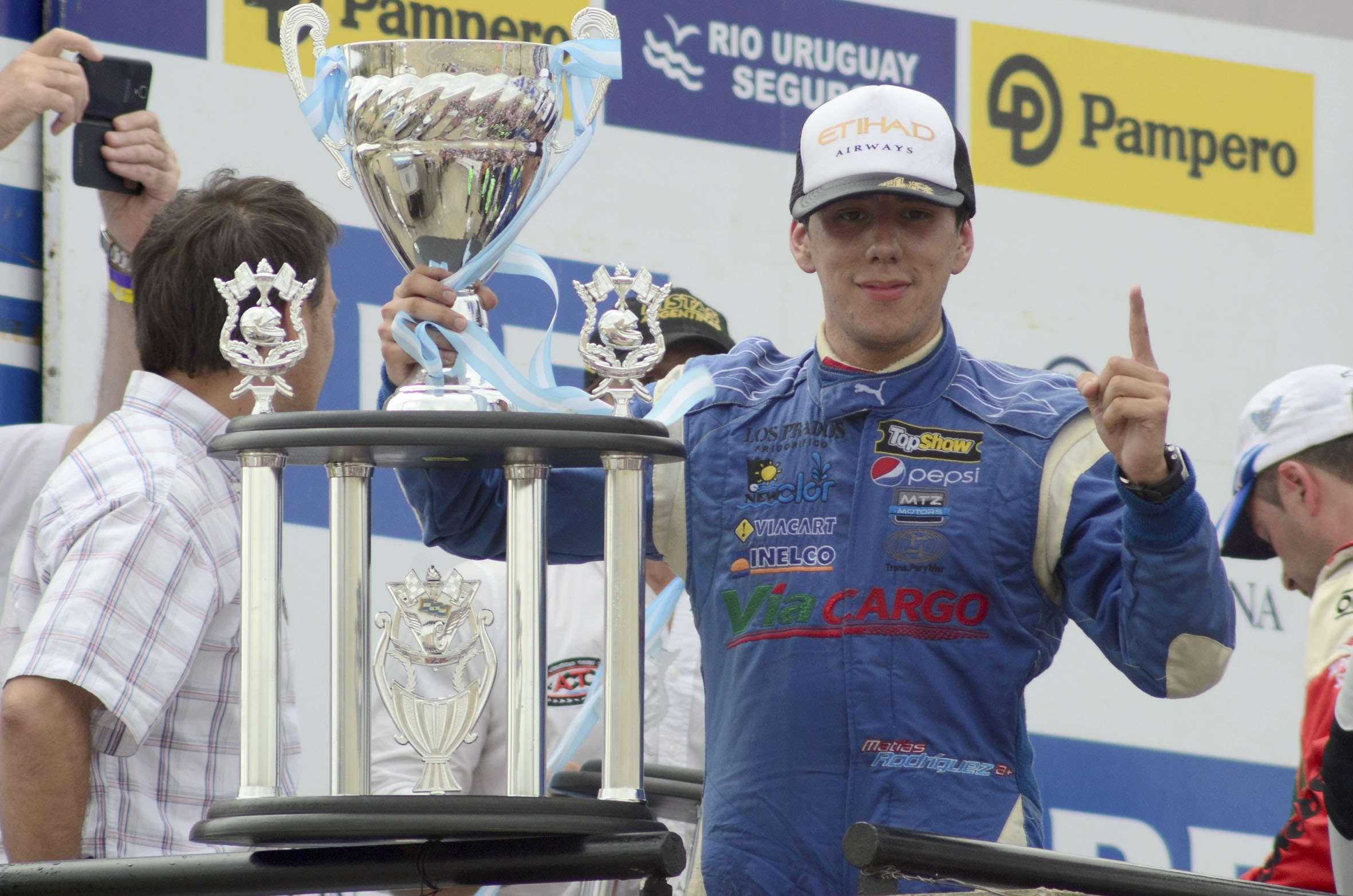 El piloto Matías Rodríguez (Dodge) se impuso en la penúltima carrera del Turismo Carretera (TC) Foto: NA