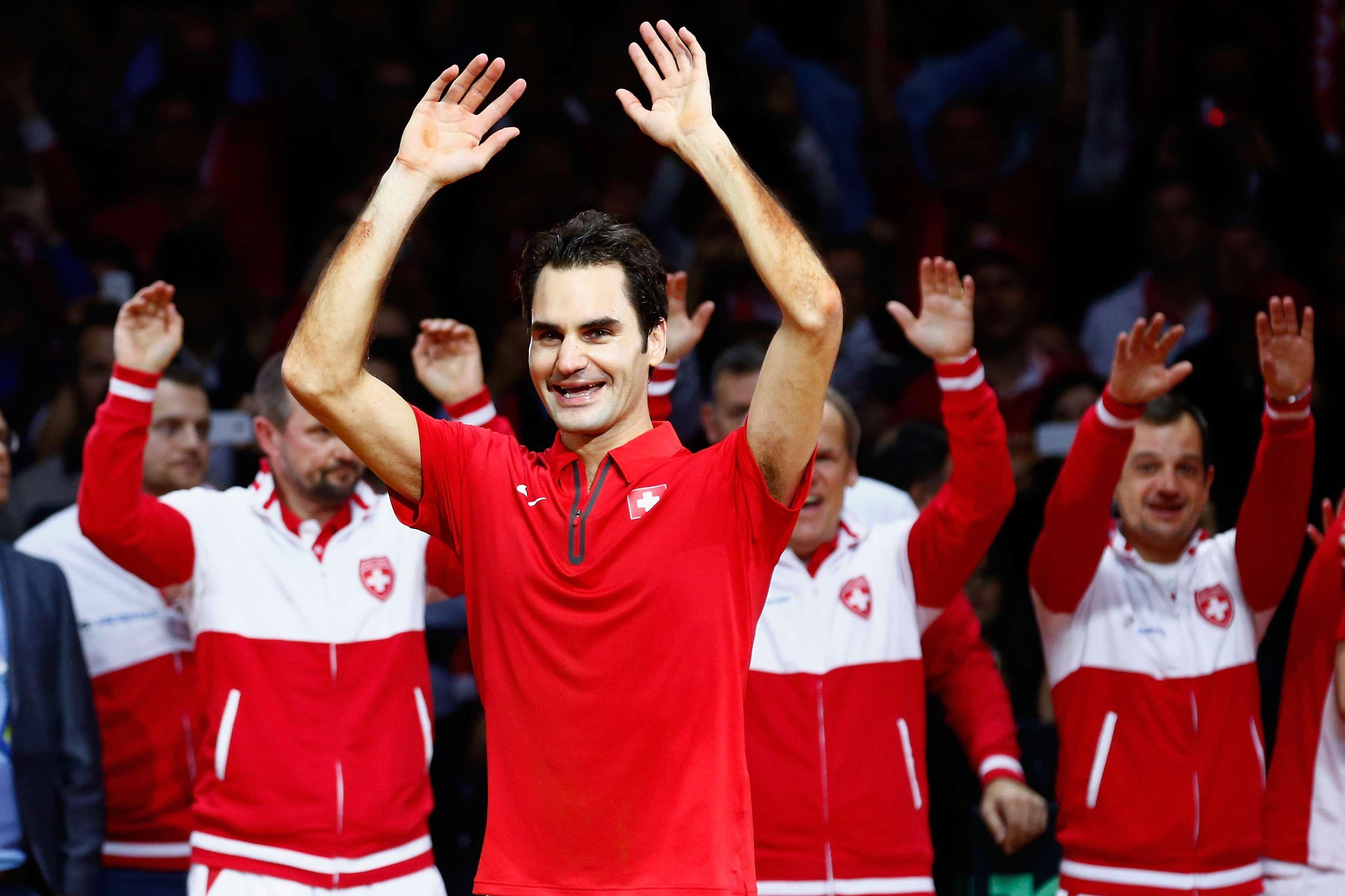 Federer considera histórico el título de Suiza en Copa Davis Foto: Getty