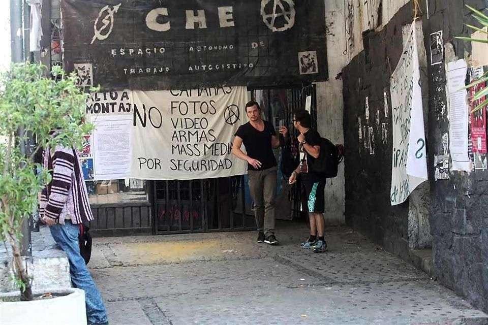"""El Auditorio Justo Sierra, renombrado por los estudiantes como """"Che Guevara"""". Foto: Reforma"""