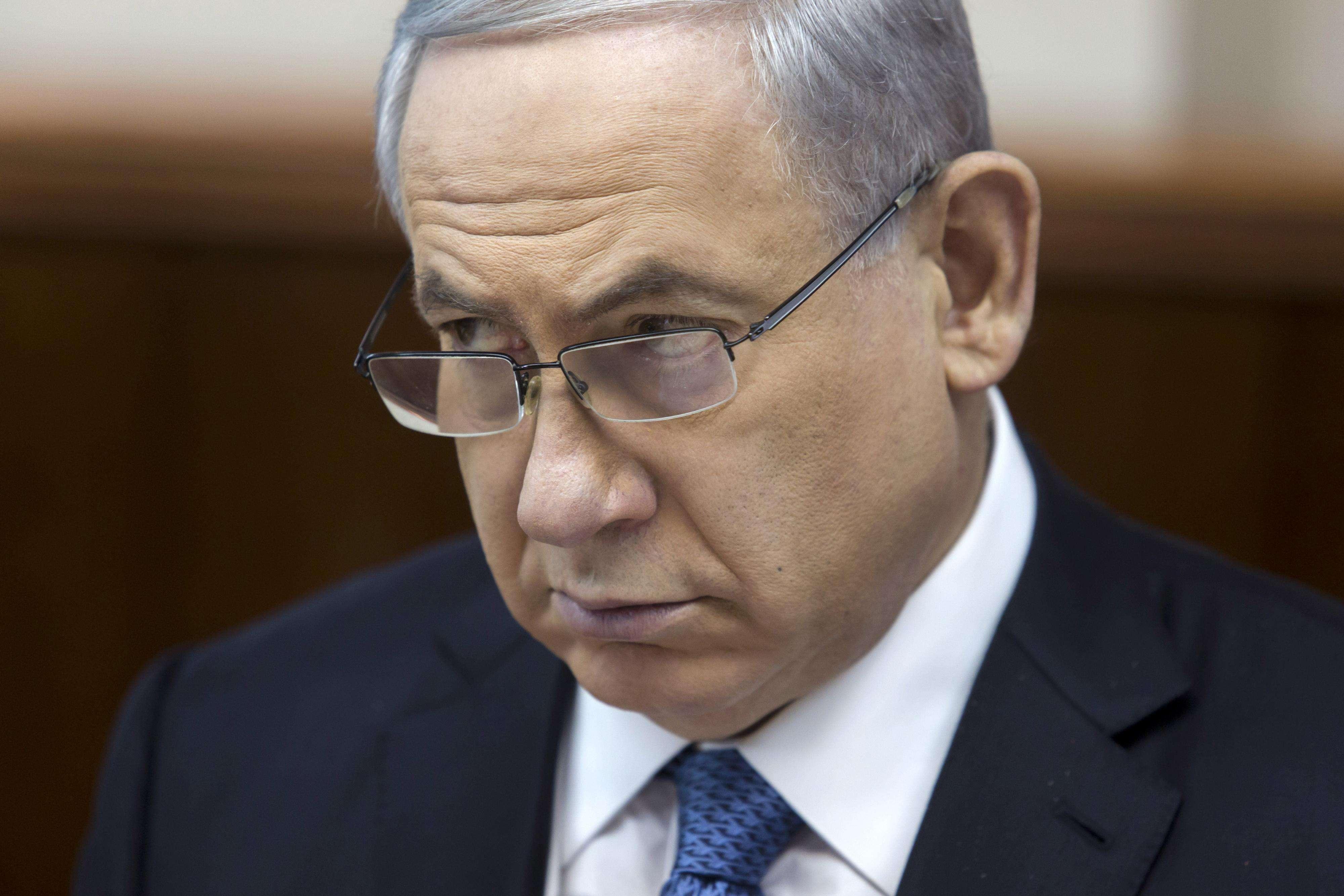 Netanyahu aprovou o polêmico projeto de lei neste domingo Foto: AP