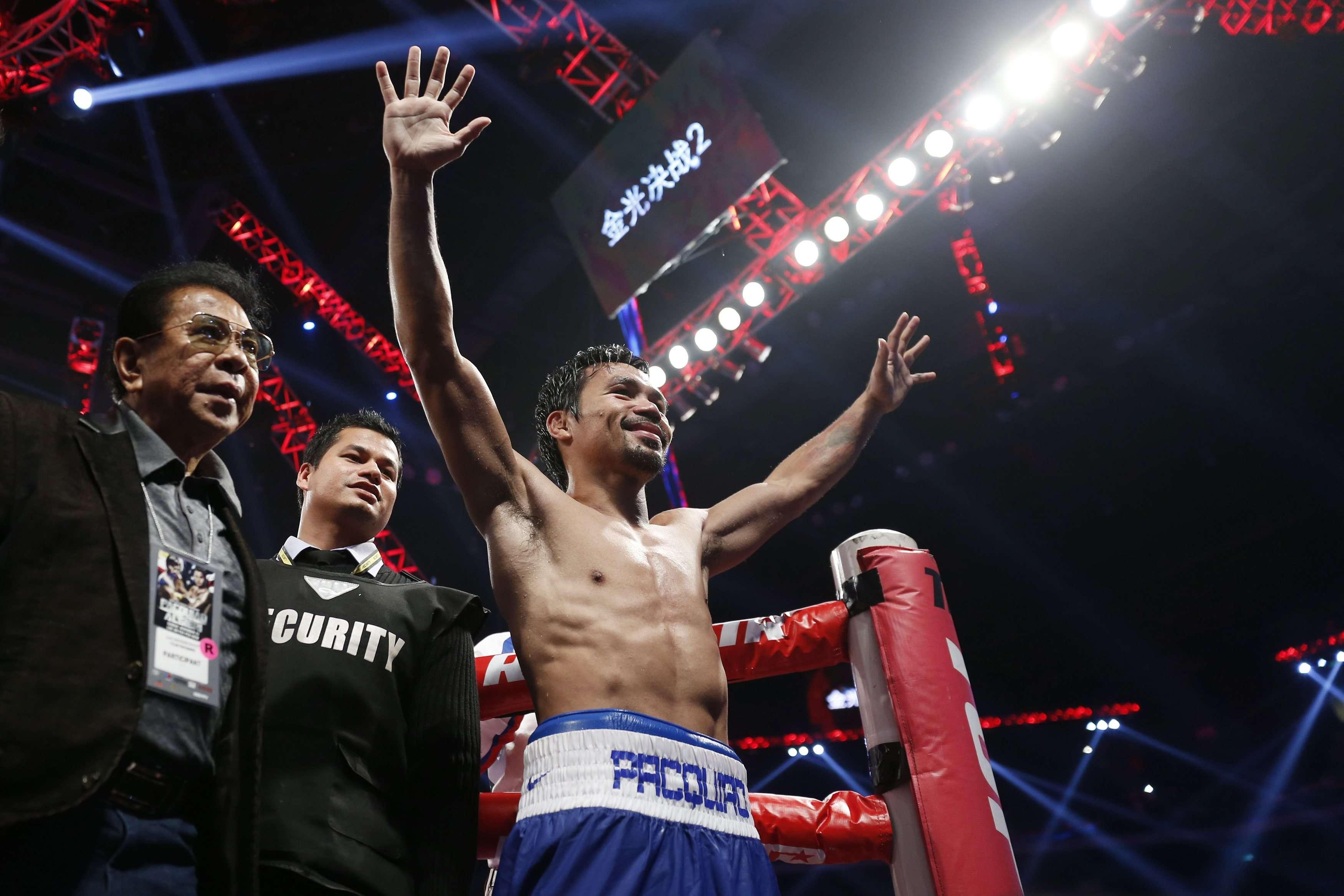 Pacquiao consolidou sua recuperação após derrotas de 2012 Foto: Tyrone Siu/Reuters