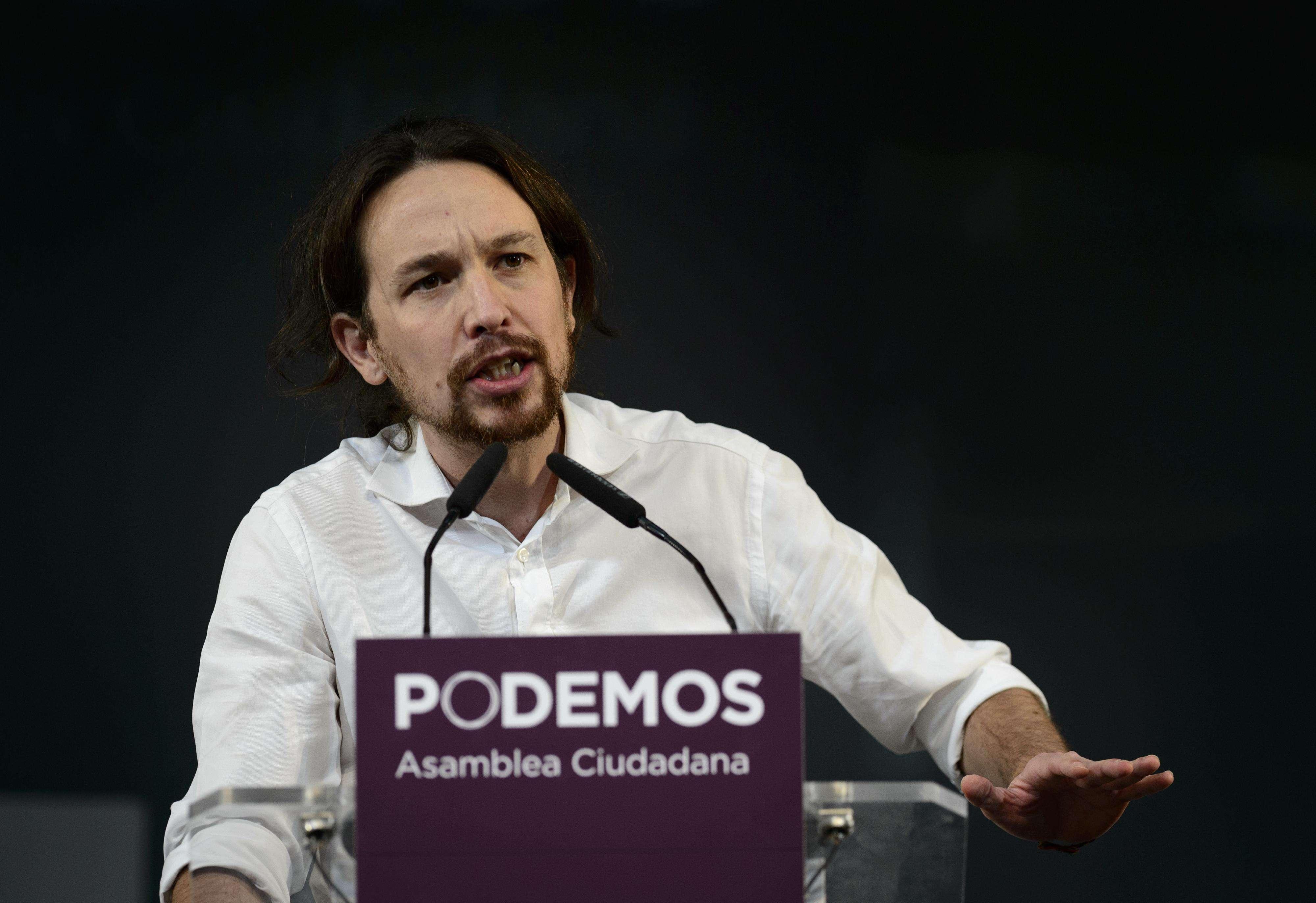 """Pablo Iglesias, líder del partido español """"Podemos"""". Foto: AFP"""