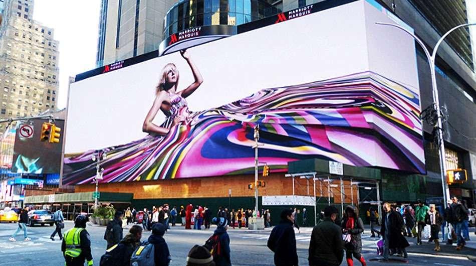 A tela ainda possui 23,68 metros de altura por 100,48 metros de largura. Foto: Mashable/Reprodução