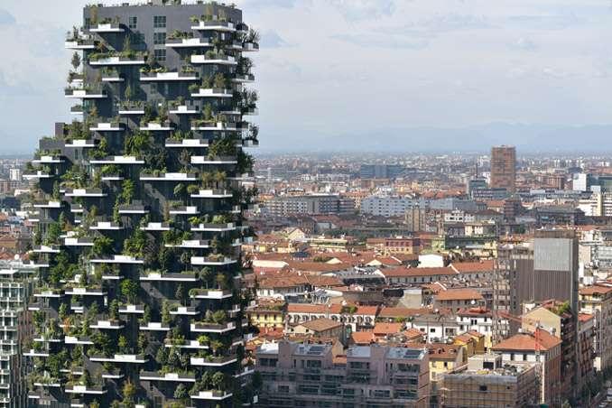 Condomínio com bosque suspenso vence 'nobel da arquitetura' Foto: Paolo Rosselini/BBCBrasil.com