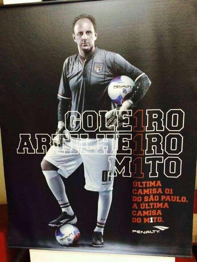 Última camisa de Rogério Ceni vazou na internet nesta segunda Foto: Twitter/Reprodução
