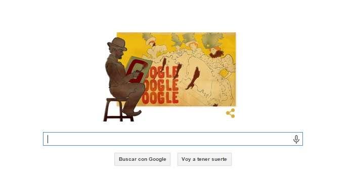 Google le dedica un doodle a Toulouse-Lautrec Foto: Google