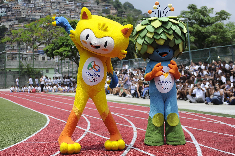Mascotes da Olimpíada do Rio de Janeiro são apresentados em Santa Teresa Foto: Daniel Ramalho/Agif/Gazeta Press