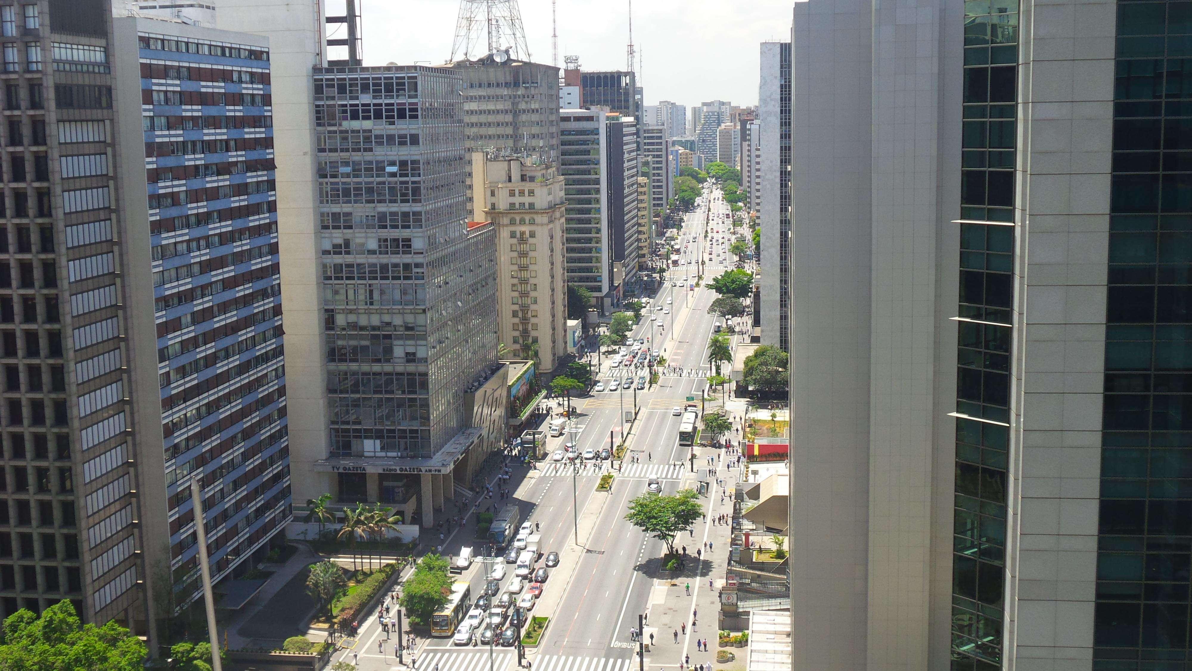 """Avenida Paulista com alameda Campinas, em SP, seria ponto de queda de avião prevista por """"premonitor"""" Foto: Janaina Garcia/Terra"""