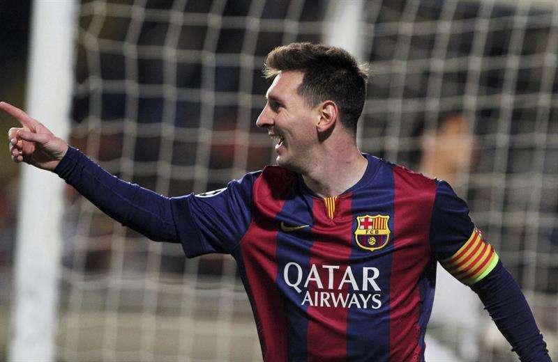 Messi anotó un hattrick al Apoel Foto: EFE en español