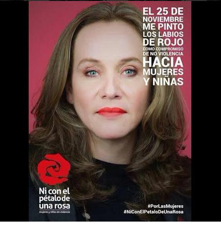 Alejandra Borrero #NiConElPetaloDeUnaRosa Foto: Archivo particular