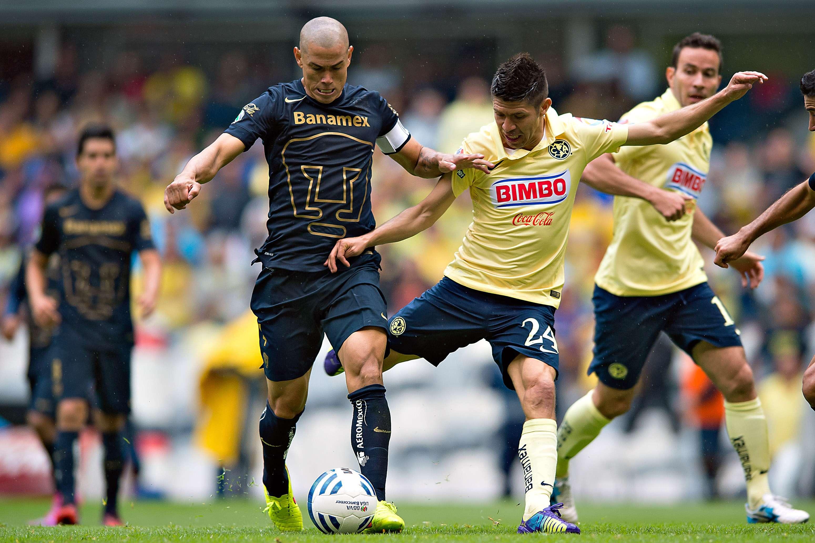 Darío Verón y Oribe Peralta son las principales figuras de Pumas y América, en el duelo de cuartos de final del Apertura 2014. Foto: Mexsport
