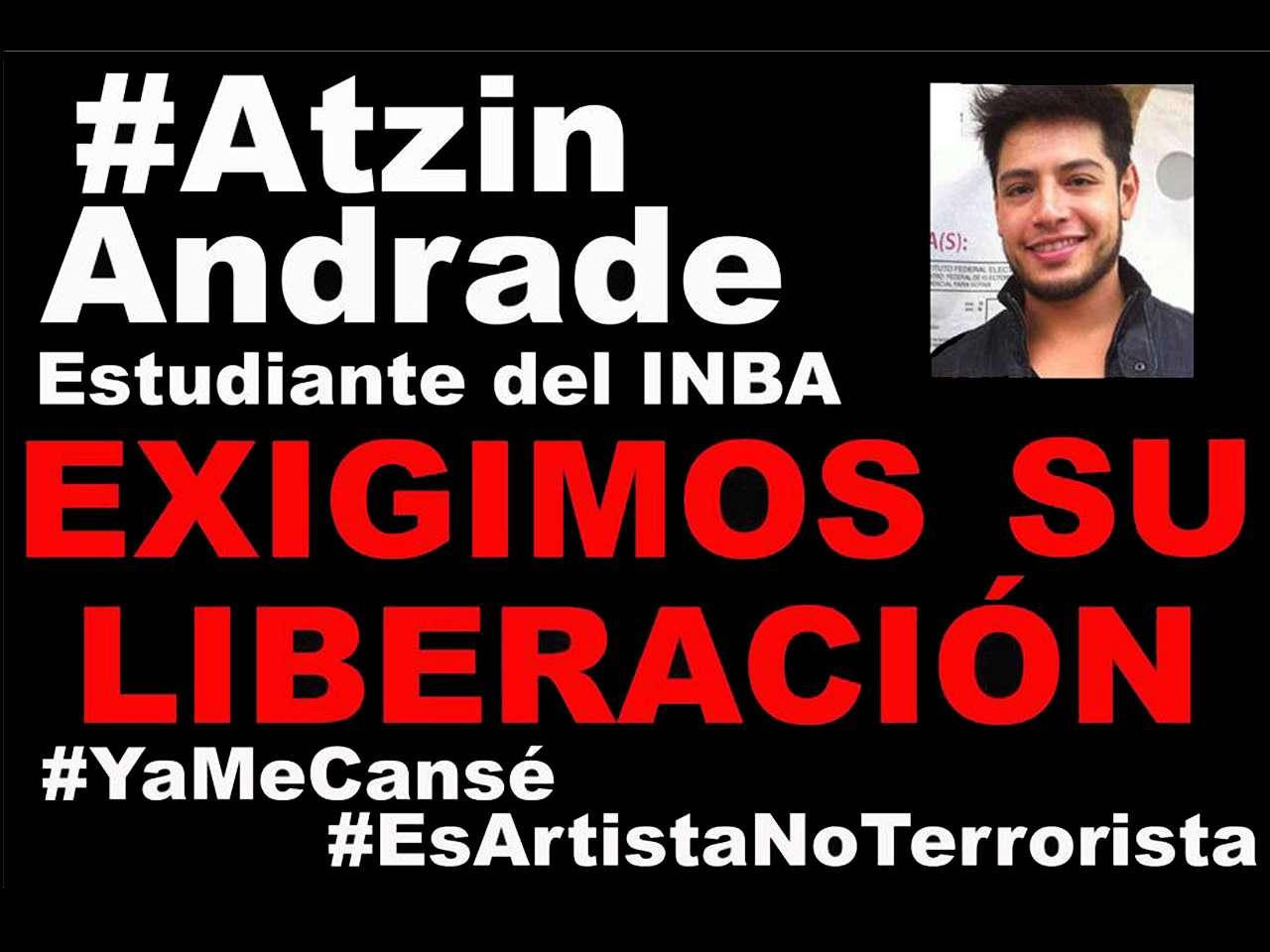 La madrugada del sábado 22 de noviembre, antes de que cumpliera 48 horas detenido, Atzin Andrade fue trasladado al Cefereso 5, penal ubicado en Villa Aldama, Veracruz. Foto: Facebook de Citlallin Andrade