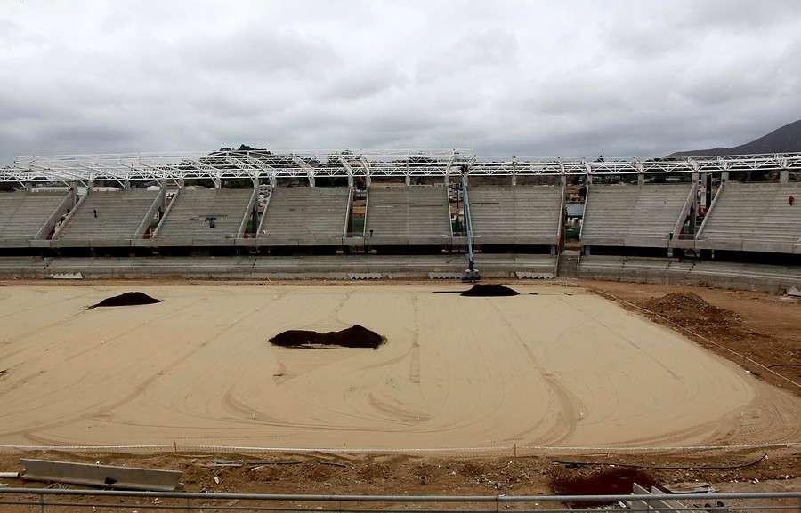 El nuevo estadio se emplaza en el mismo terreno del anterior. El recinto contará con un aforo aproximado de 18.000 espectadores, con butacas individuales (incluye zonas para discapacitados y sus acompañantes en todos los sectores). Foto: Agencia UNO