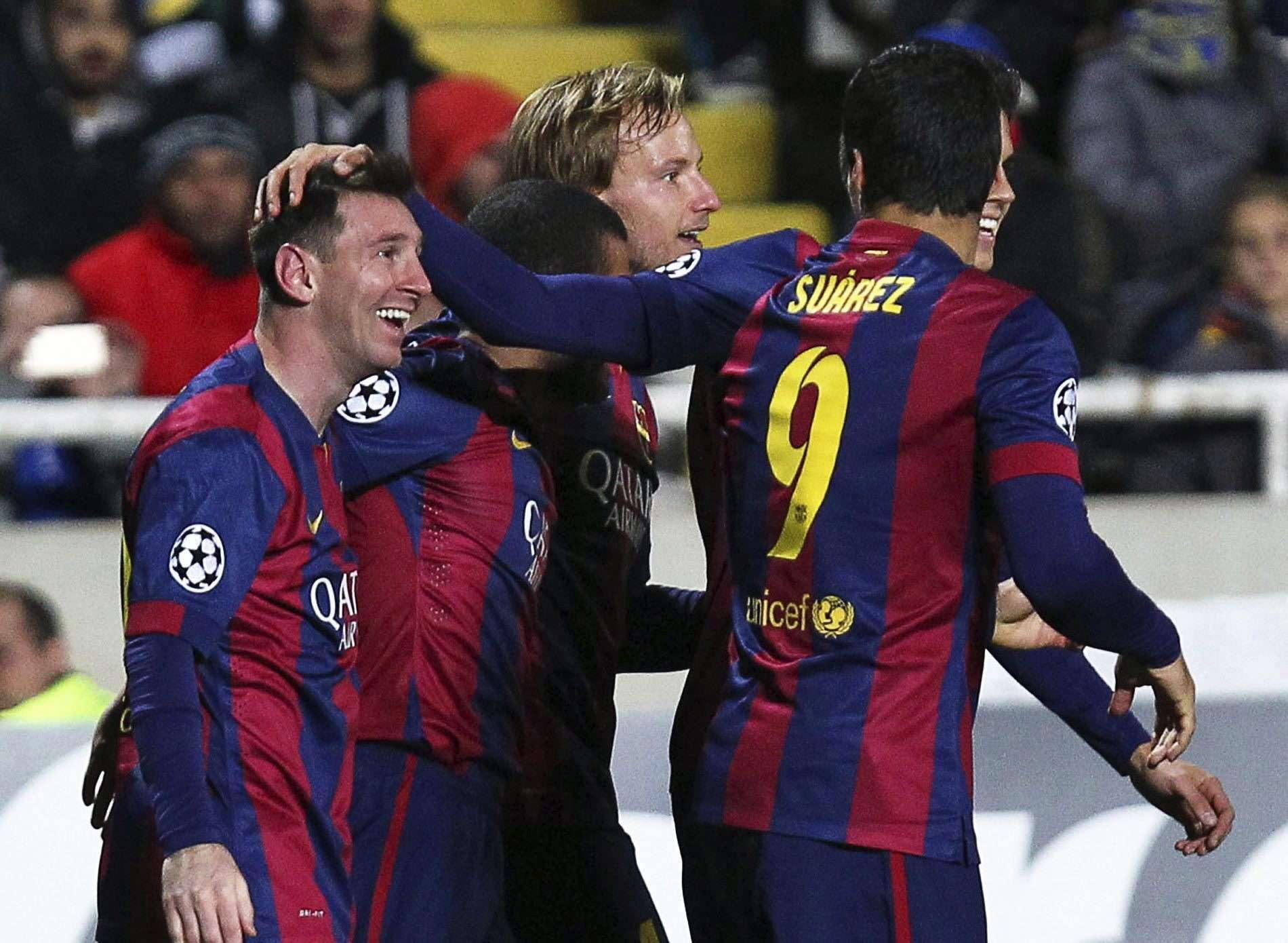 Messi e Suárez foram destaques em vitória do Barcelona Foto: Katia Christodoulou/EFE