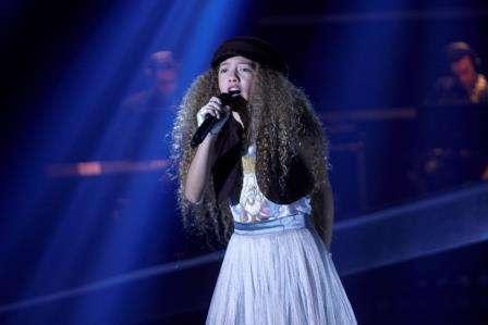 Ivanna, la última finalista escogida en La Voz Kids 2014 Foto: Canal Caracol/Archivo particular