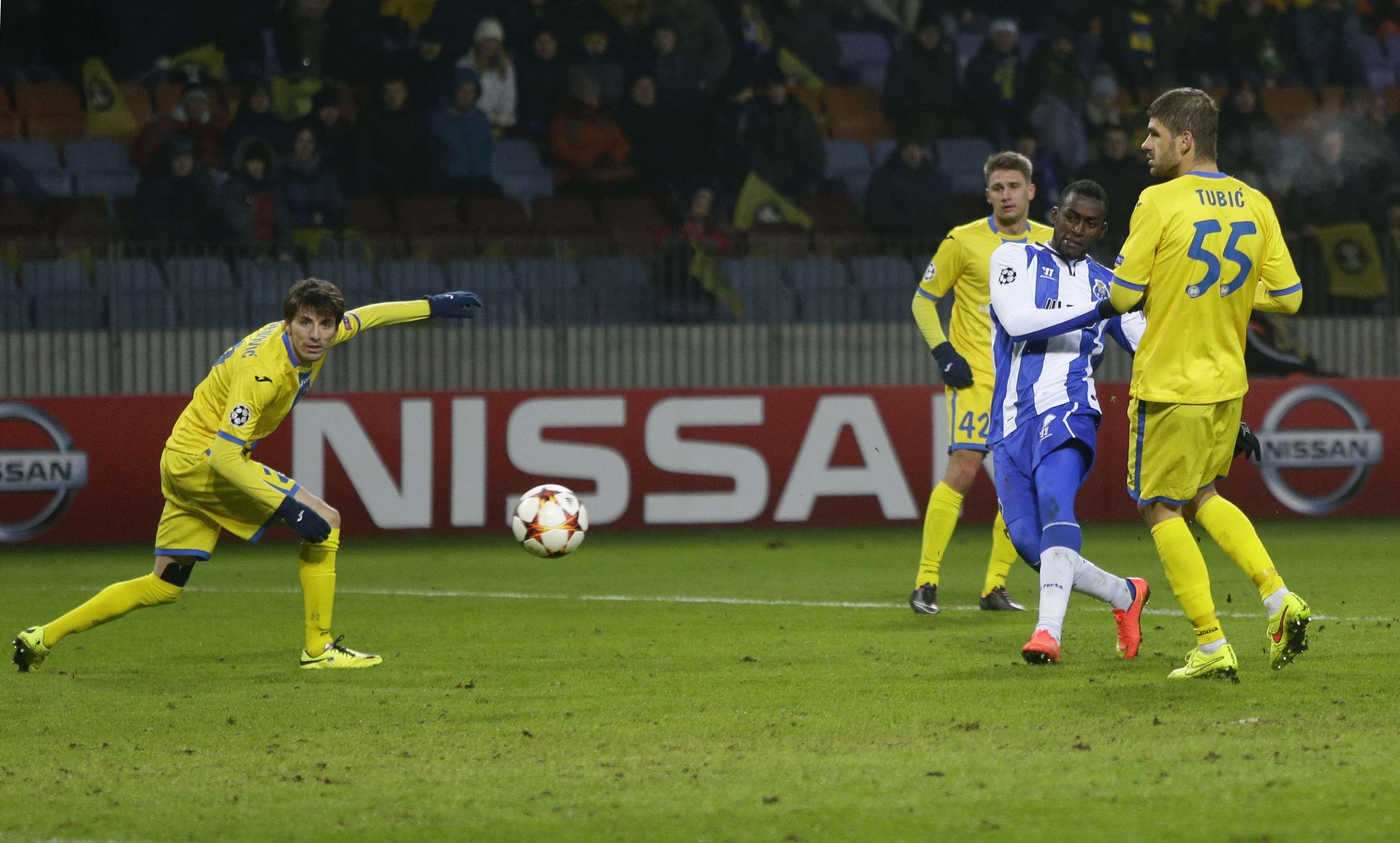 Jackson Martinez marcou seu quinto gol na Liga dos Campeões Foto: Sergei Grits/AP