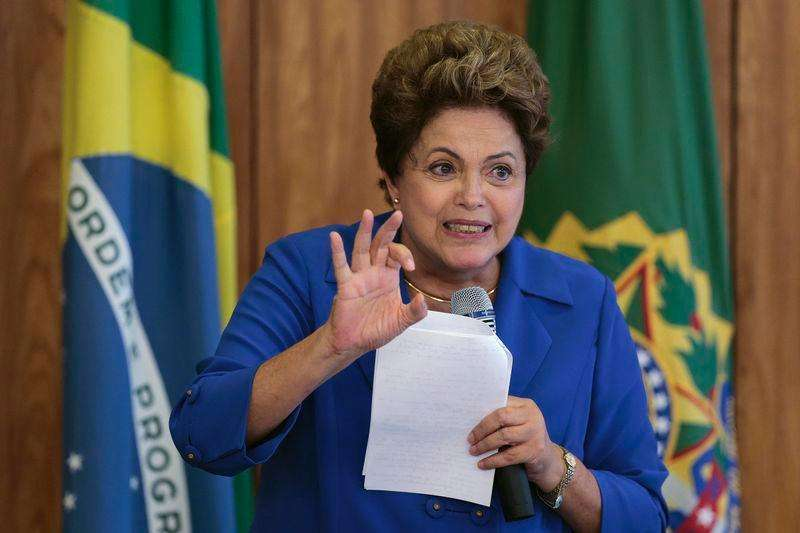 Presidente Dilma Roussef durante encontro com lideranças do PSD no Palácio do Planalto, em Brasília. 5/11/2014. Foto: Ueslei Marcelino/Reuters