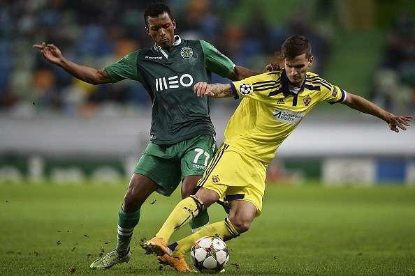 Nani marcó el segundo gol en el triunfo del Sporting de Lisboa 3-1 sobre Maribor. Foto: AFP