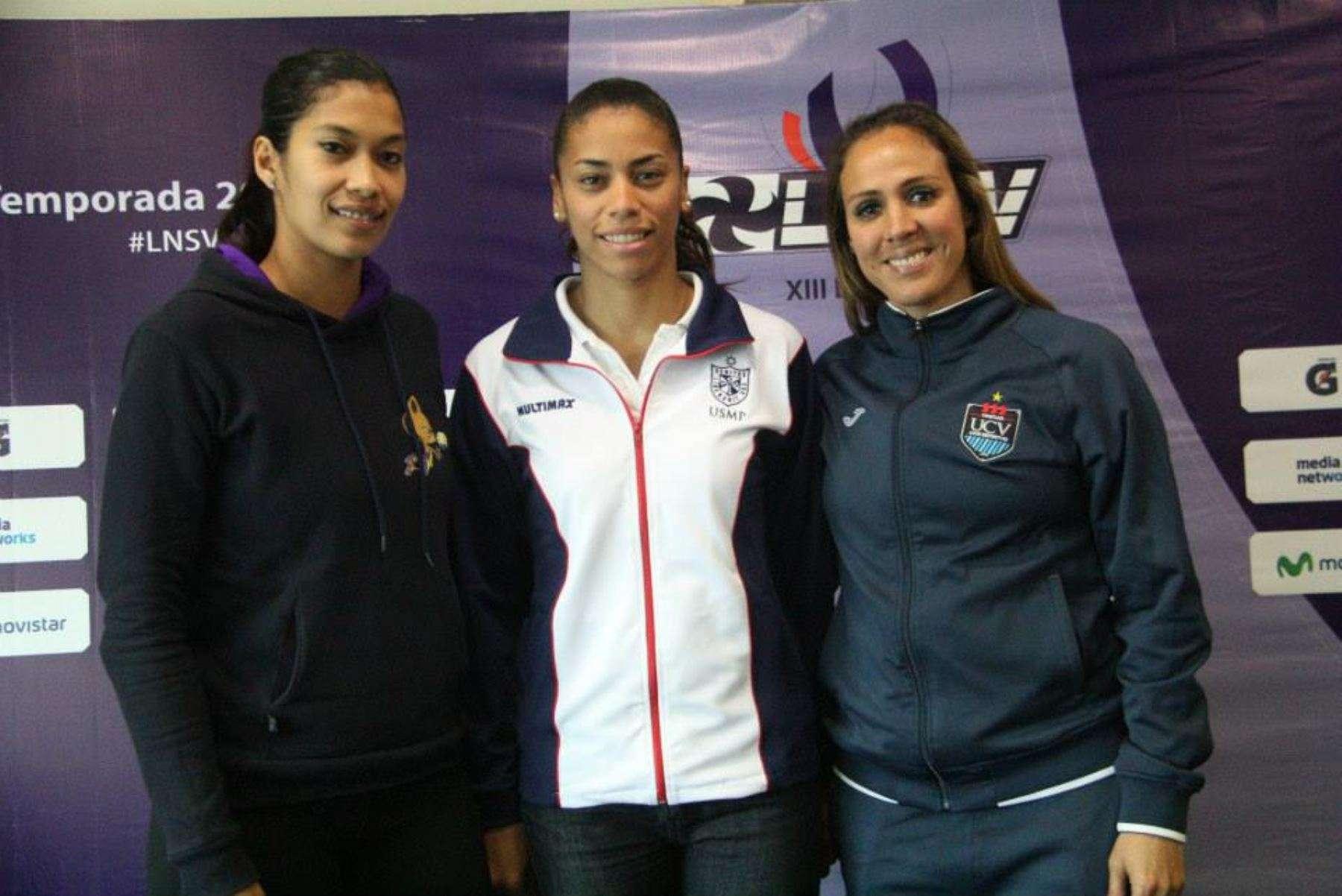 Mirtha Uribe, Patty Soto y Milagros Moy son algunas de las figuras que emocionarán a los hinchas del vóley Foto: Andina