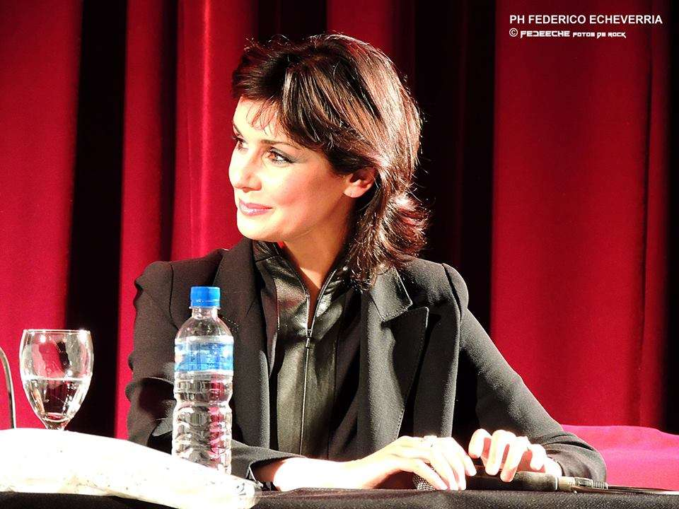 Emma Shapplin en conferencia de prensa. Foto: Gentileza Federico Echeverria