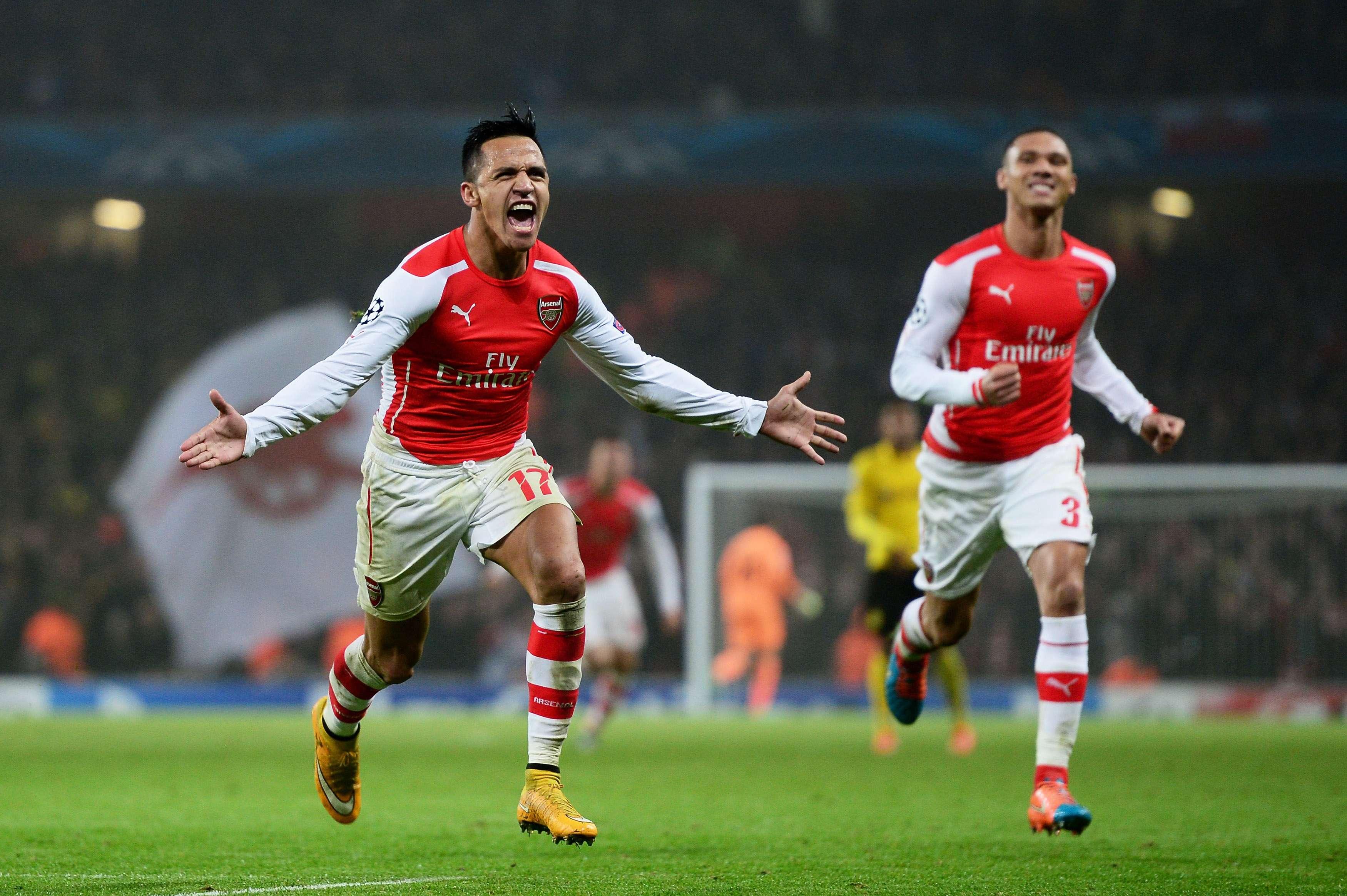 Alexis Sánchez sentenció la victoria sobre el Dortmund. Foto: Getty Images