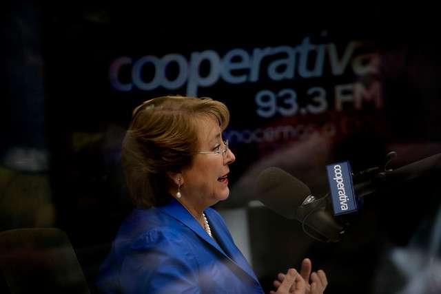 La Presidenta fue entrevistada esta mañana en Radio Cooperativa. Foto: Agencia UNO