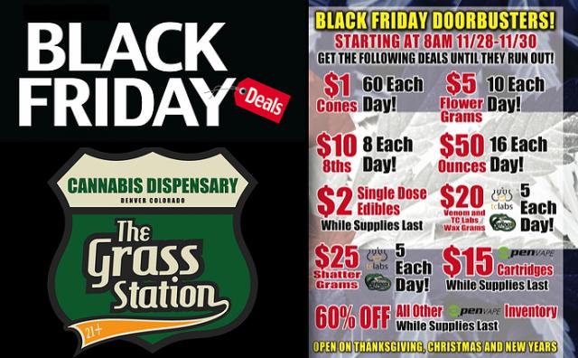 """Propaganda da loja Glass Station, em Denver, que quer dobrar as vendas na """"Green Friday"""" Foto: Mashable/Reprodução"""