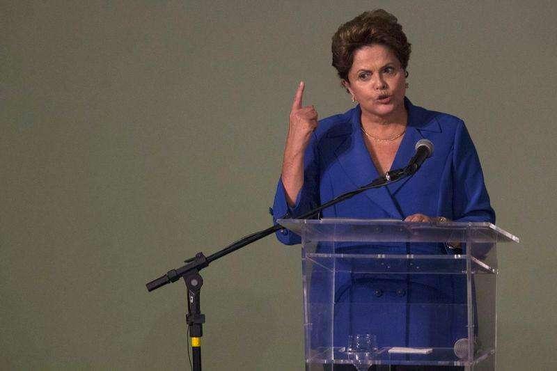 Presidente Dilma Rousseff durante discurso em Brasília. 20/11/2014. Foto: Ueslei Marcelino/Reuters