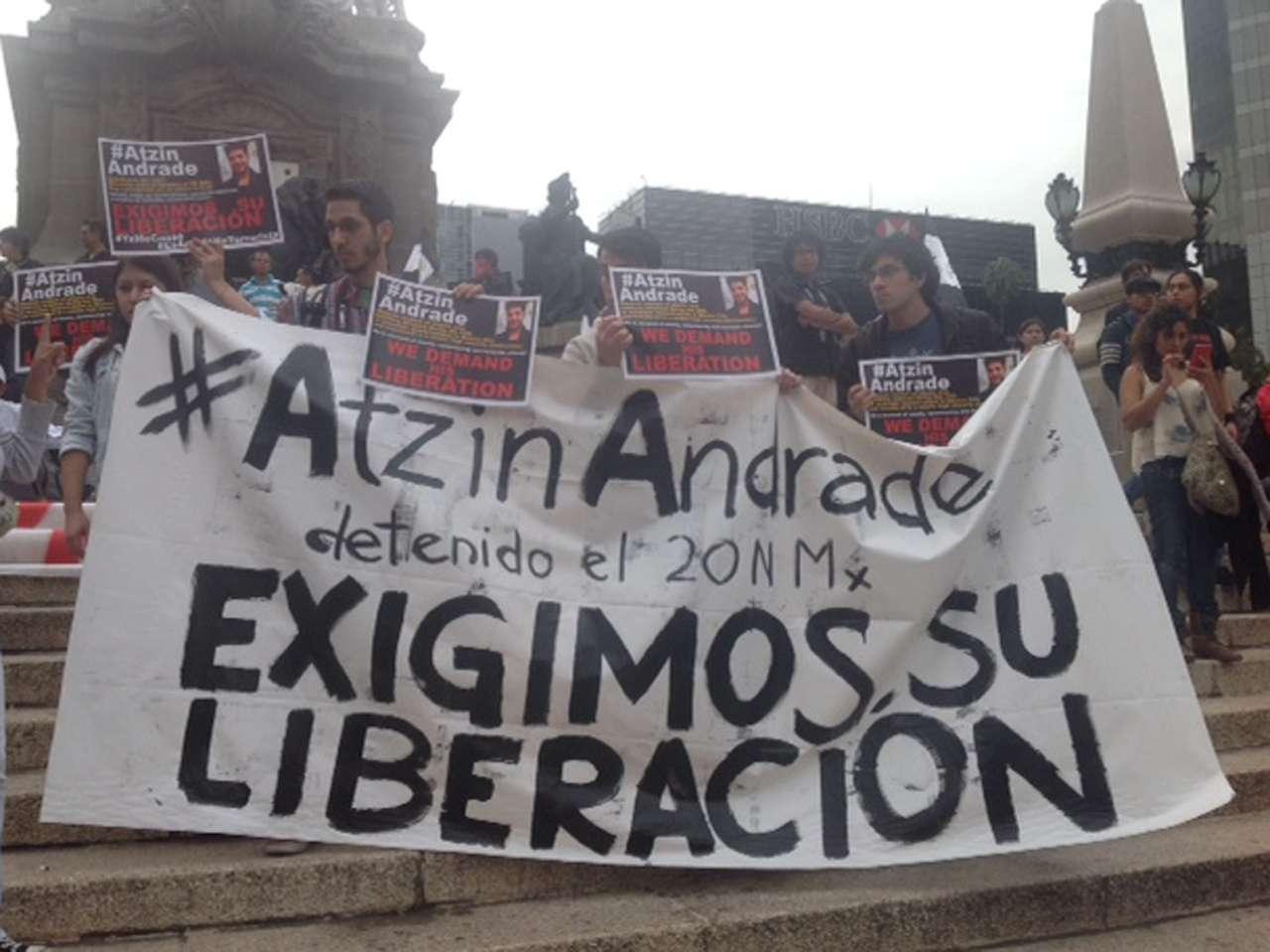 Marchan del Ángel al Zócalo por detenidos del #20NovMx Foto: Terra