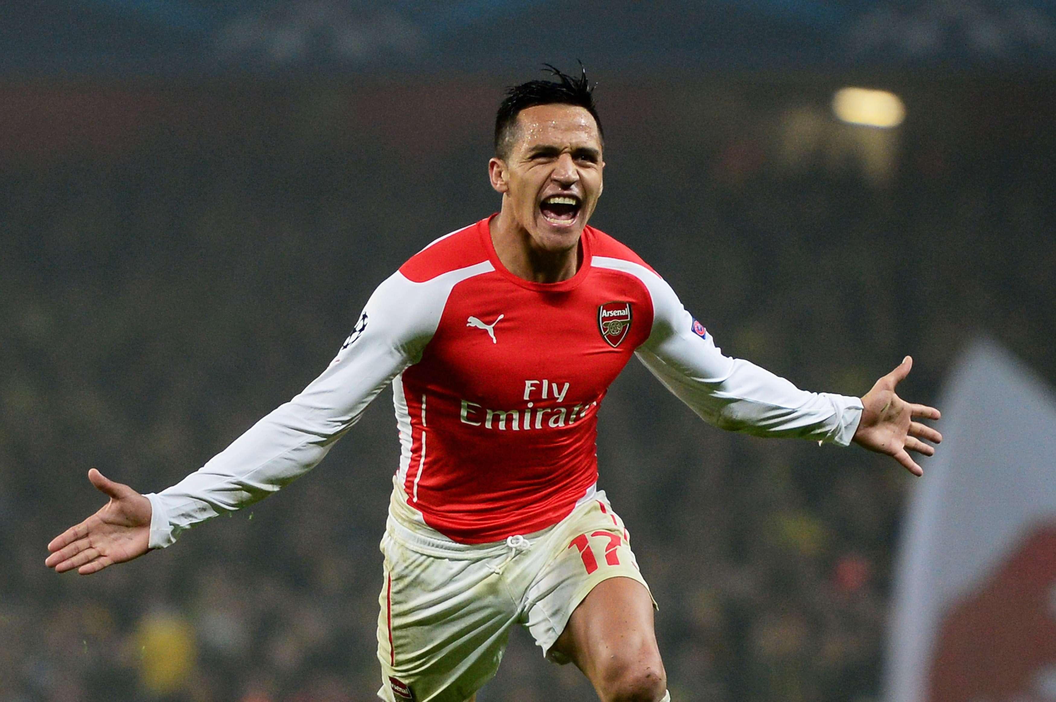Alexis Sanchez calou os críticos marcando um dos gols sobre o Borussia Dortmund Foto: Jamie McDonald/Getty Images