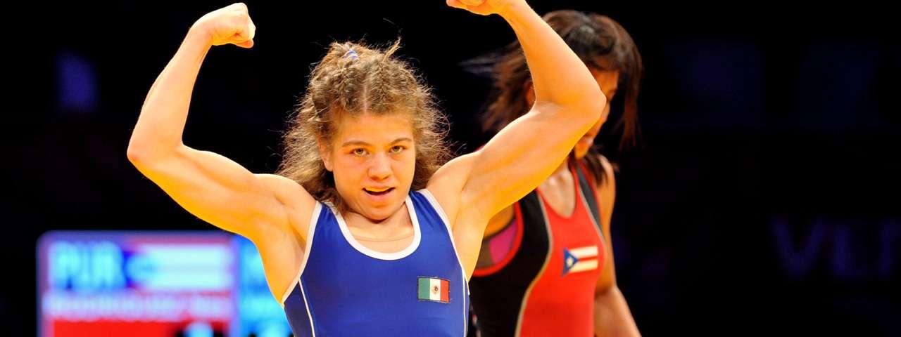 Alma Valencia muestra su fortaleza. Foto: Mexsport